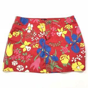 New Rare Vintage Tommy Hilfiger Floral Jean Skirt